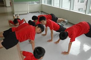 男子トレーニング
